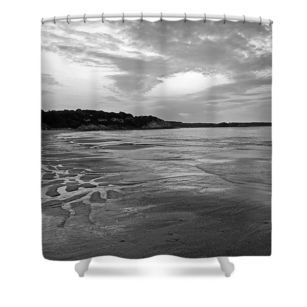 Singing Beach Sandy Beach Manchester By The Sea Ma Sunrise Black And White Shower Curtain