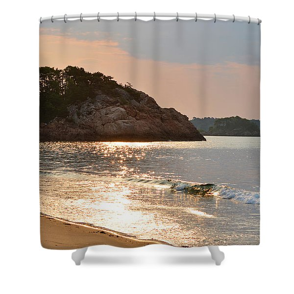 Singing Beach Silver Waves Manchester By The Sea Ma Shower Curtain