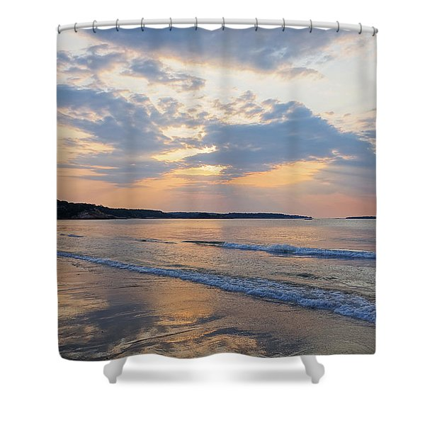 Singing Beach Sun Rays Manchester By The Sea Ma Shower Curtain