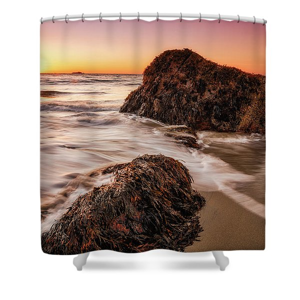 Singing Water, Singing Beach Shower Curtain