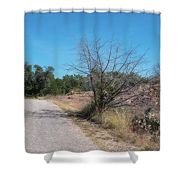 Single Lane Road In The Hill Country Shower Curtain
