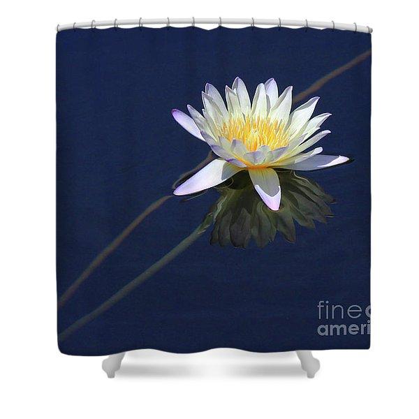 Single Lotus Shower Curtain