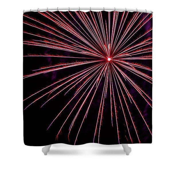 Single Spray  Shower Curtain