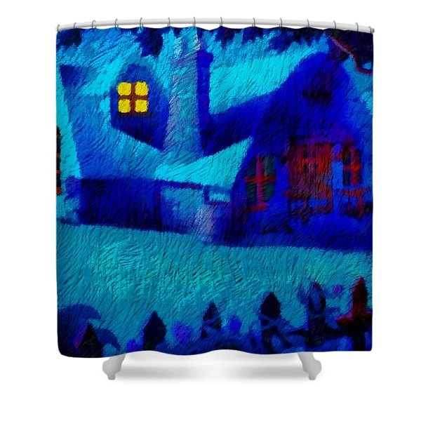 Sinister Night View Shower Curtain