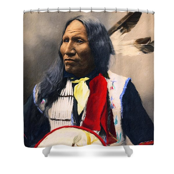 Sioux Chief Portrait Shower Curtain