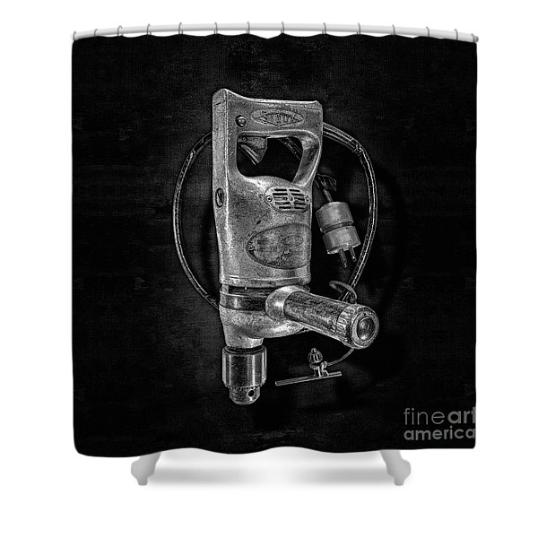 Sioux Drill Motor 1/2 Inch Bw Shower Curtain