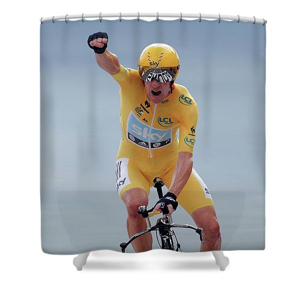 Sir Bradley Wiggins 1 Shower Curtain