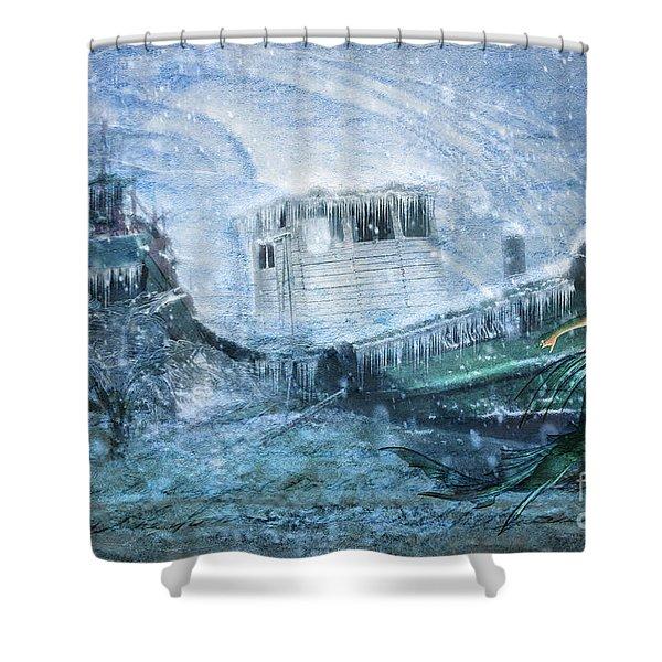 Siren Ship Shower Curtain