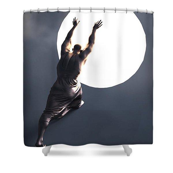 Sisyphus Lamp 05 Shower Curtain