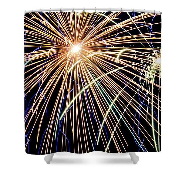 Sister Bay Fireworks Shower Curtain