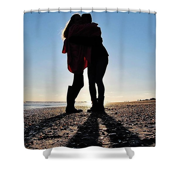 Sisters In The Shadows Shower Curtain