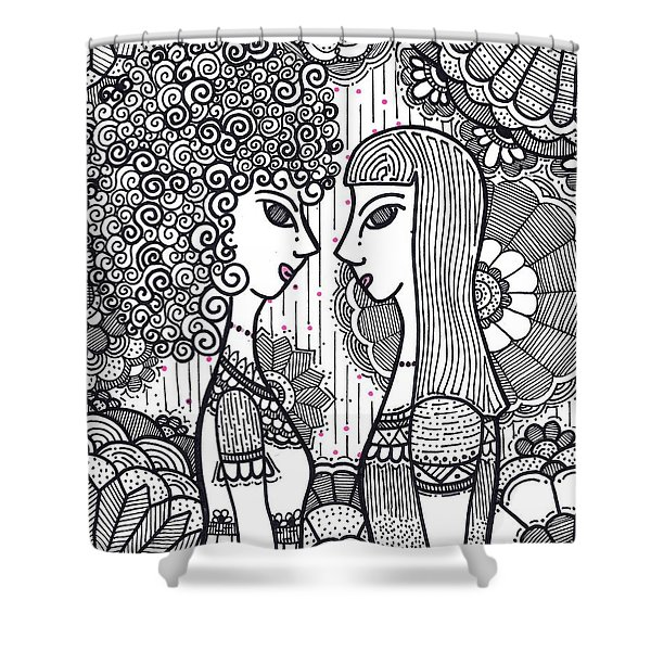 Sisters - Ink Shower Curtain