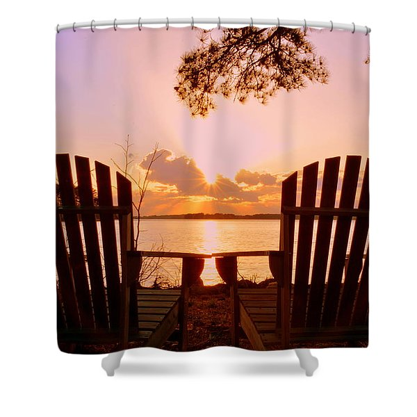 Sit Down And Relax Shower Curtain