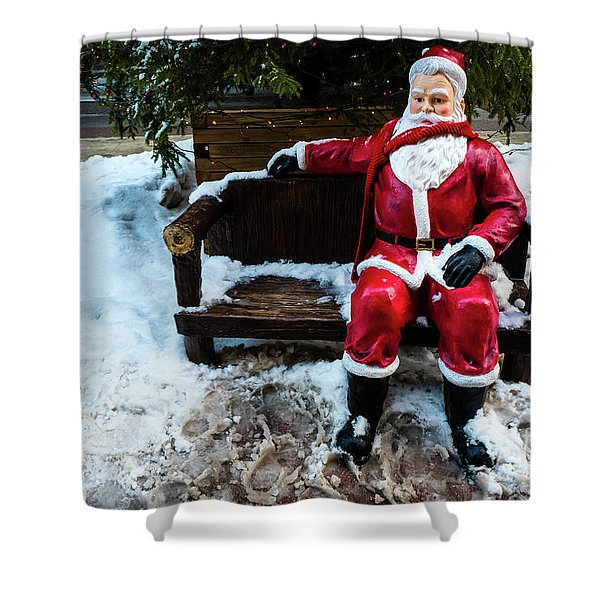 Sit With Santa Shower Curtain