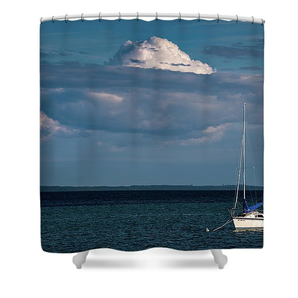 Sittin By The Bay Shower Curtain