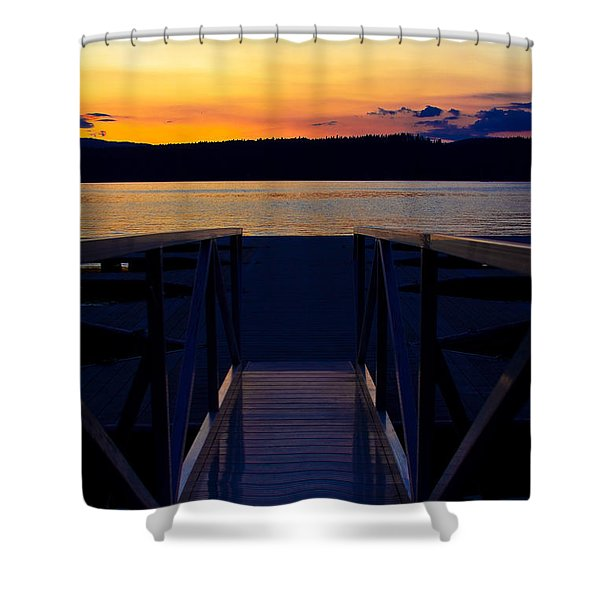 Sitting On The Dock Of A Bay Shower Curtain