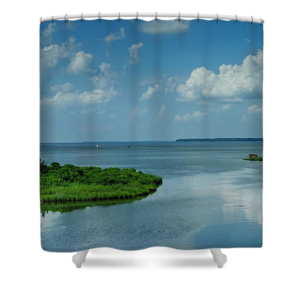 Sitting On The Dock Of The Bay Shower Curtain