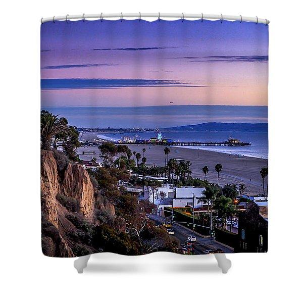 Sitting On The Fence - Santa Monica Pier Shower Curtain