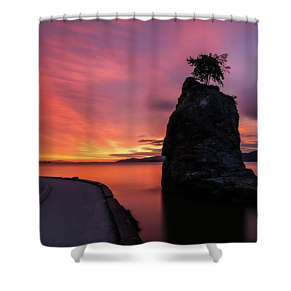Siwash Rock Along The Sea Wall Shower Curtain