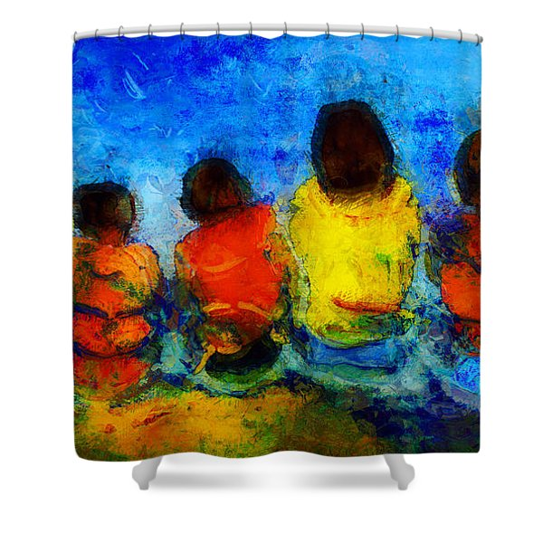 Six On The Shore  Shower Curtain