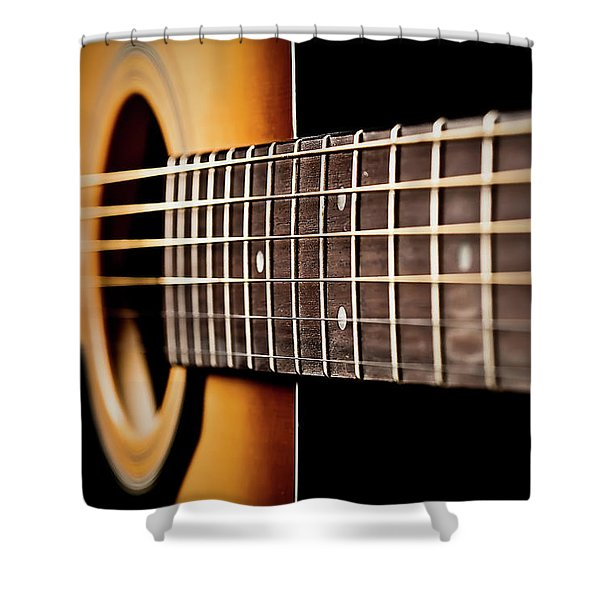 Six String Guitar Shower Curtain