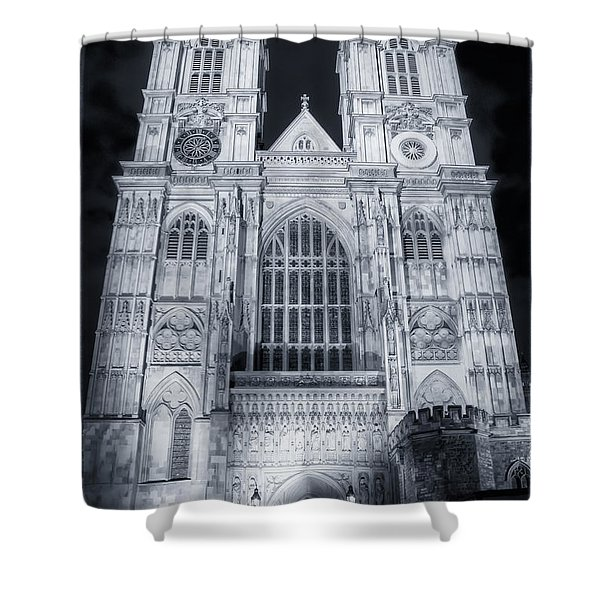 Westminster Abbey Night Shower Curtain