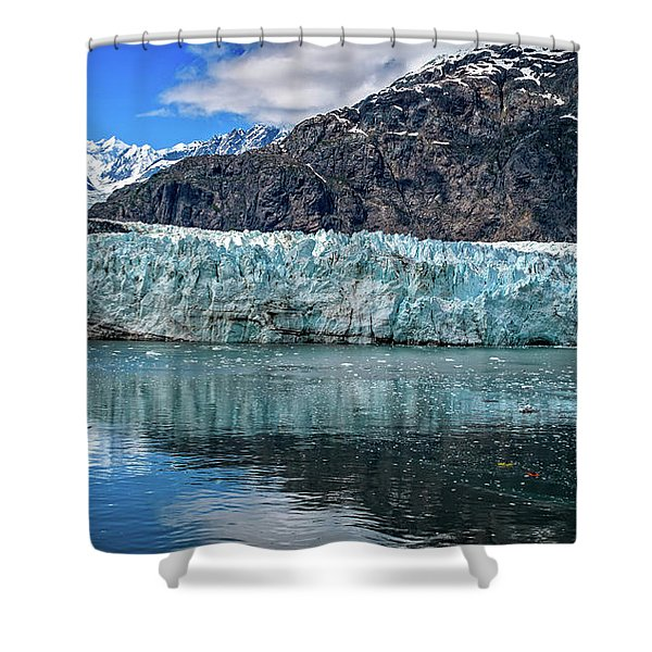 Size Perspective No Margerie Glacier Shower Curtain