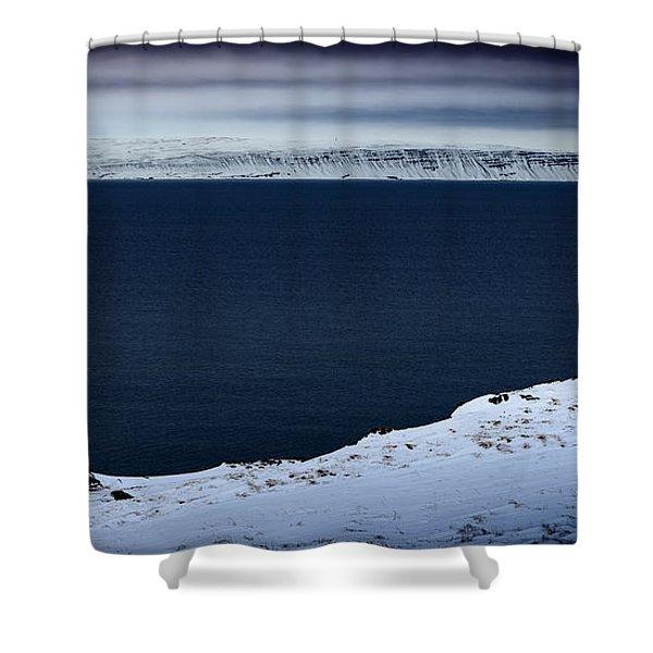 Skardsviti Lighthouse, Iceland Shower Curtain