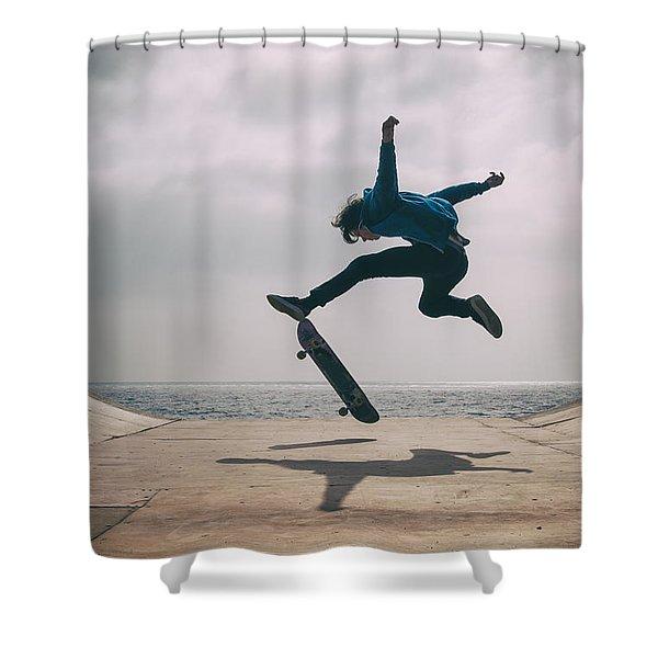Skater Boy 003 Shower Curtain