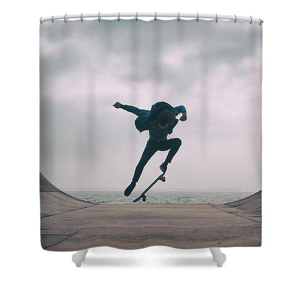 Skater Boy 004 Shower Curtain