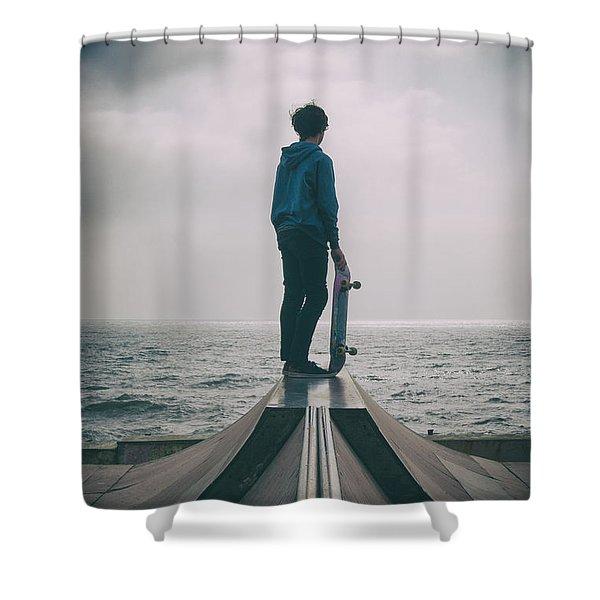 Skater Boy 005 Shower Curtain