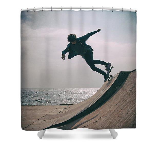 Skater Boy 007 Shower Curtain
