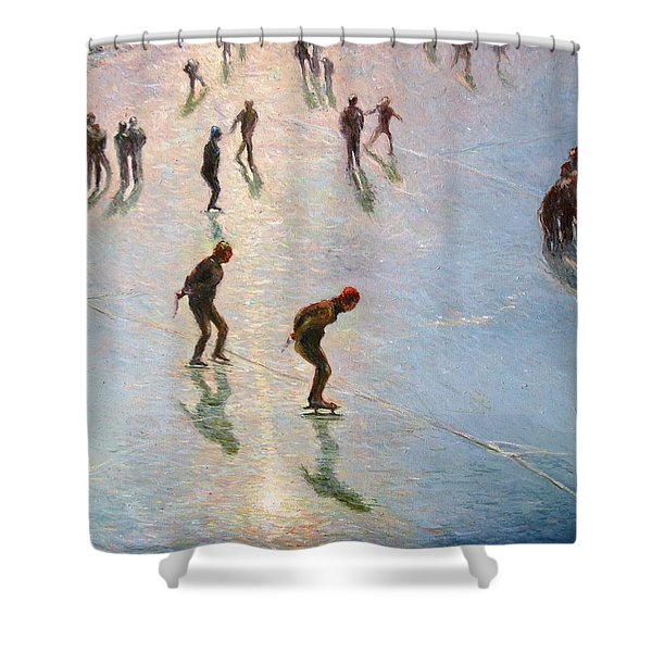 Skating In The Sunset  Shower Curtain