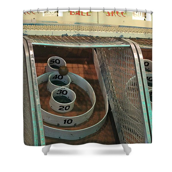 Skee Ball At Marty's Playland Shower Curtain