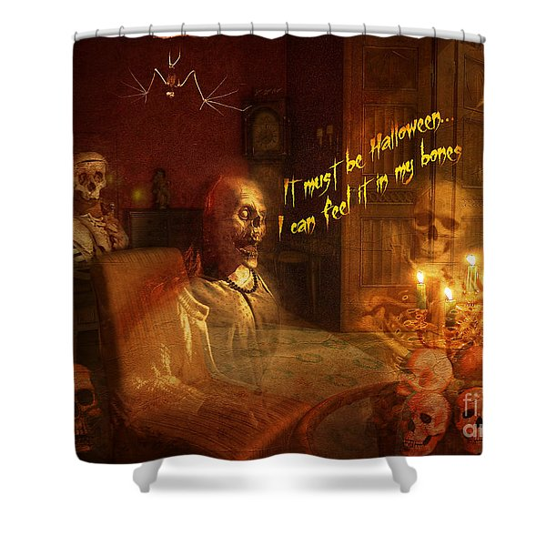 Skeleton Card 2016 Shower Curtain