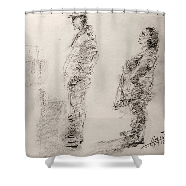 Sketch 11 Shower Curtain
