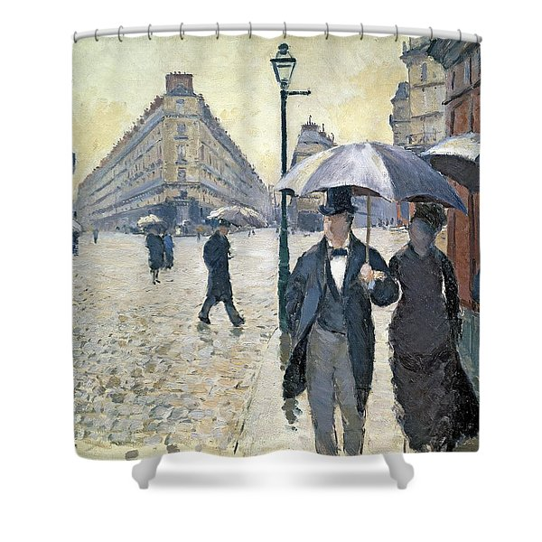 Sketch For Paris A Rainy Day Shower Curtain