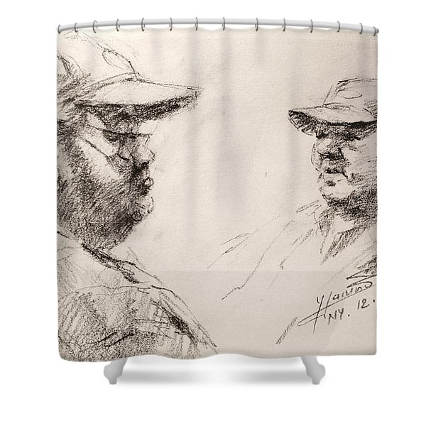 Sketch Man 10 Shower Curtain