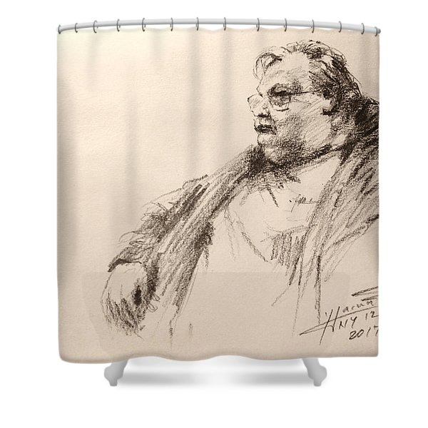 Sketch Man 12 Shower Curtain
