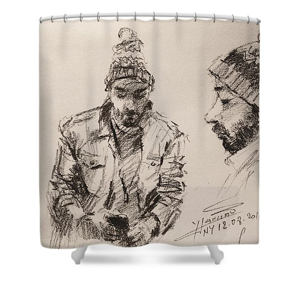 Sketch Man 13 Shower Curtain