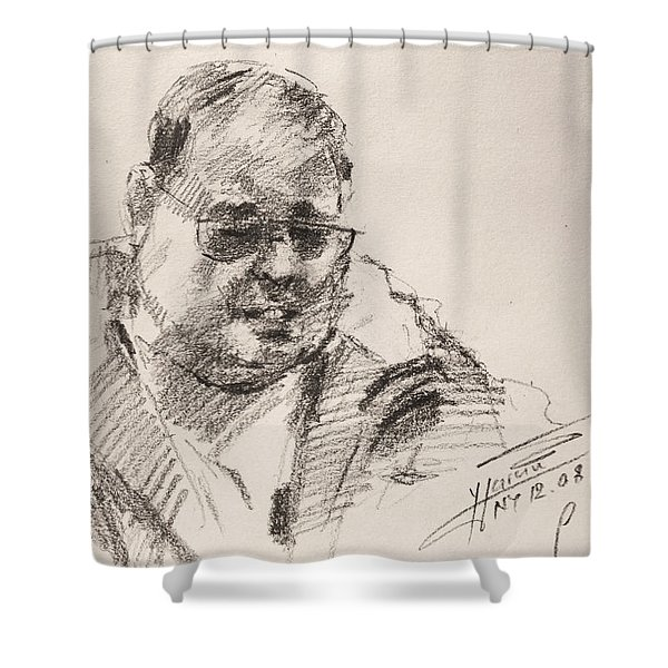 Sketch Man 14 Shower Curtain