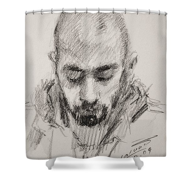 Sketch Man 16 Shower Curtain