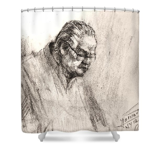 Sketch Man 17 Shower Curtain