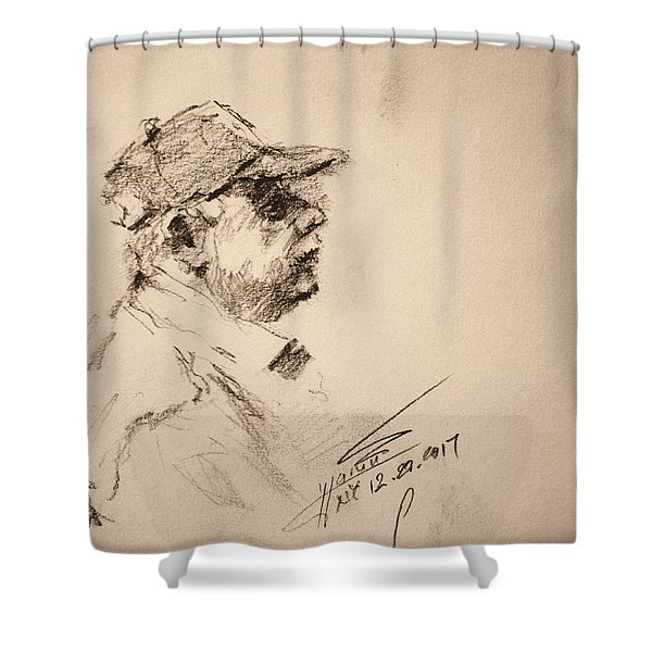 Sketch Man 19 Shower Curtain