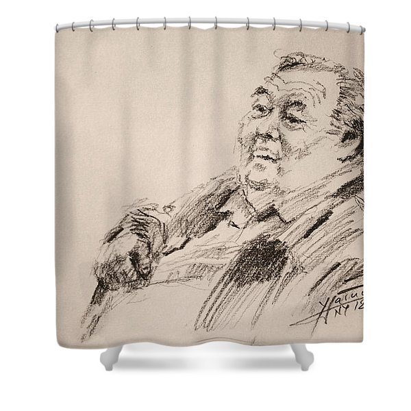 Sketch Man 20 Shower Curtain