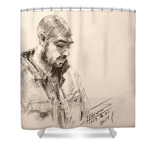 Sketch Man 9 Shower Curtain