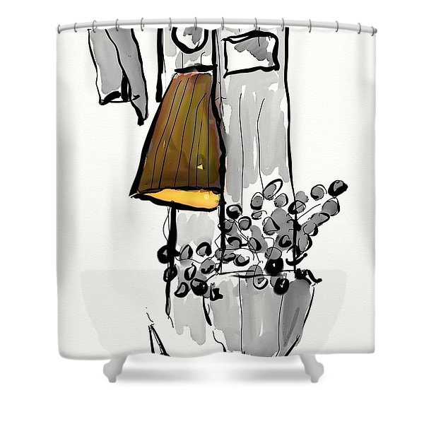 Sketch Of Interior Shower Curtain
