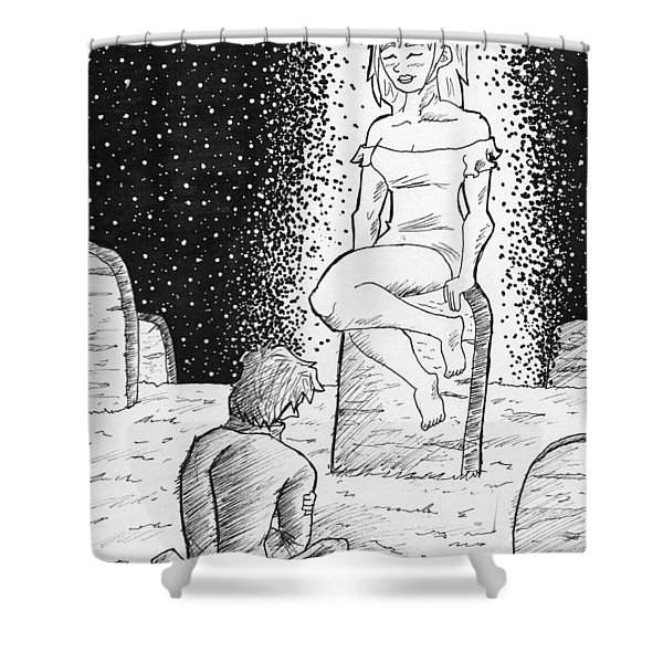 Sketch Of Love Shower Curtain
