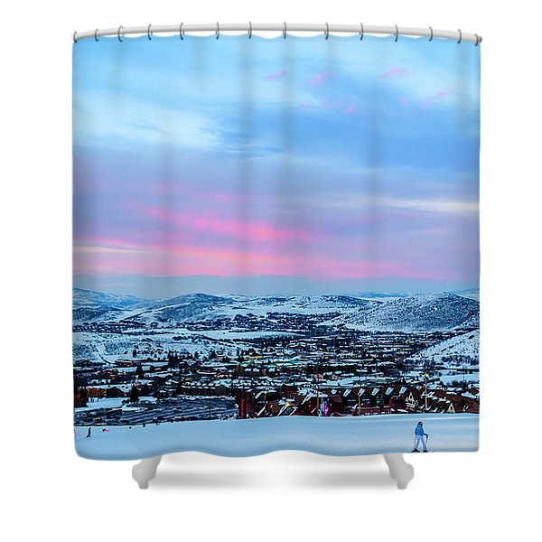 Ski Town Shower Curtain