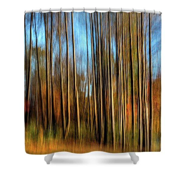 Skinny Forest Swipe Shower Curtain